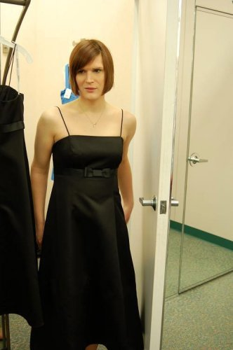 transgender male in a dress