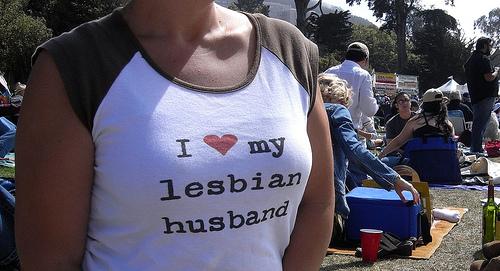 I <3 my lesbian husband.