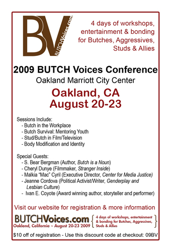 butch voices flyer