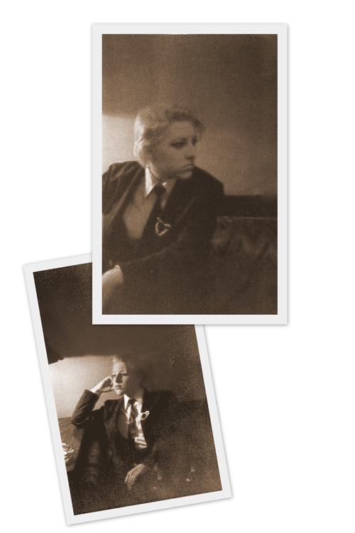 Two Portait Images in Sepia