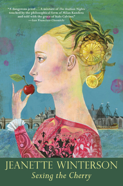 "Book cover of Jeanette Winterson's ""Sexing the Cherry"", illustration by Olaf Hajek"