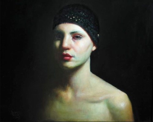 "Self-Portrait In Moonlight, 20"" x 24"", oil on panel, 2007, by R. Freymuth-Frazier"